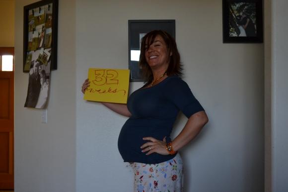 32 week belly