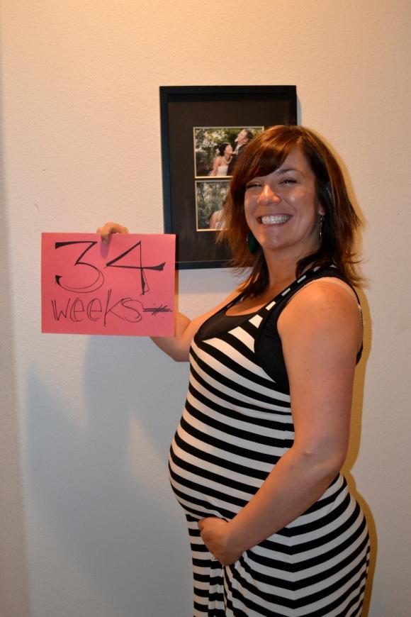 34 week belly